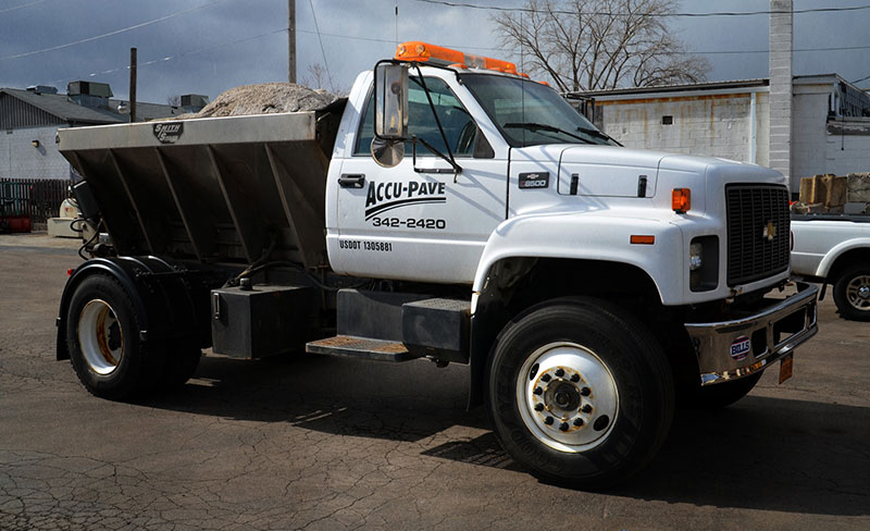 Commercial salting trucks help keep your parking lot safe all winter